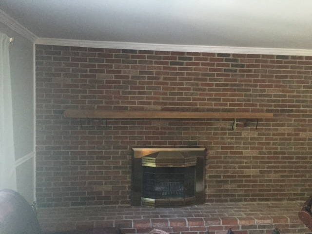 How To Whitewash Your Brick Fireplace, Whitewash Brick Fireplace Wall