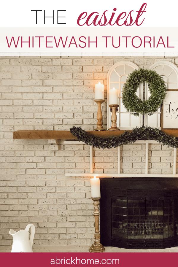 How To Whitewash Your Brick Fireplace, Whitewashing Brick Fireplace