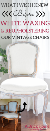 What I Wish I Knew Before White Waxing And Reupholstering Our Vintage Dining Chairs Marly Dice