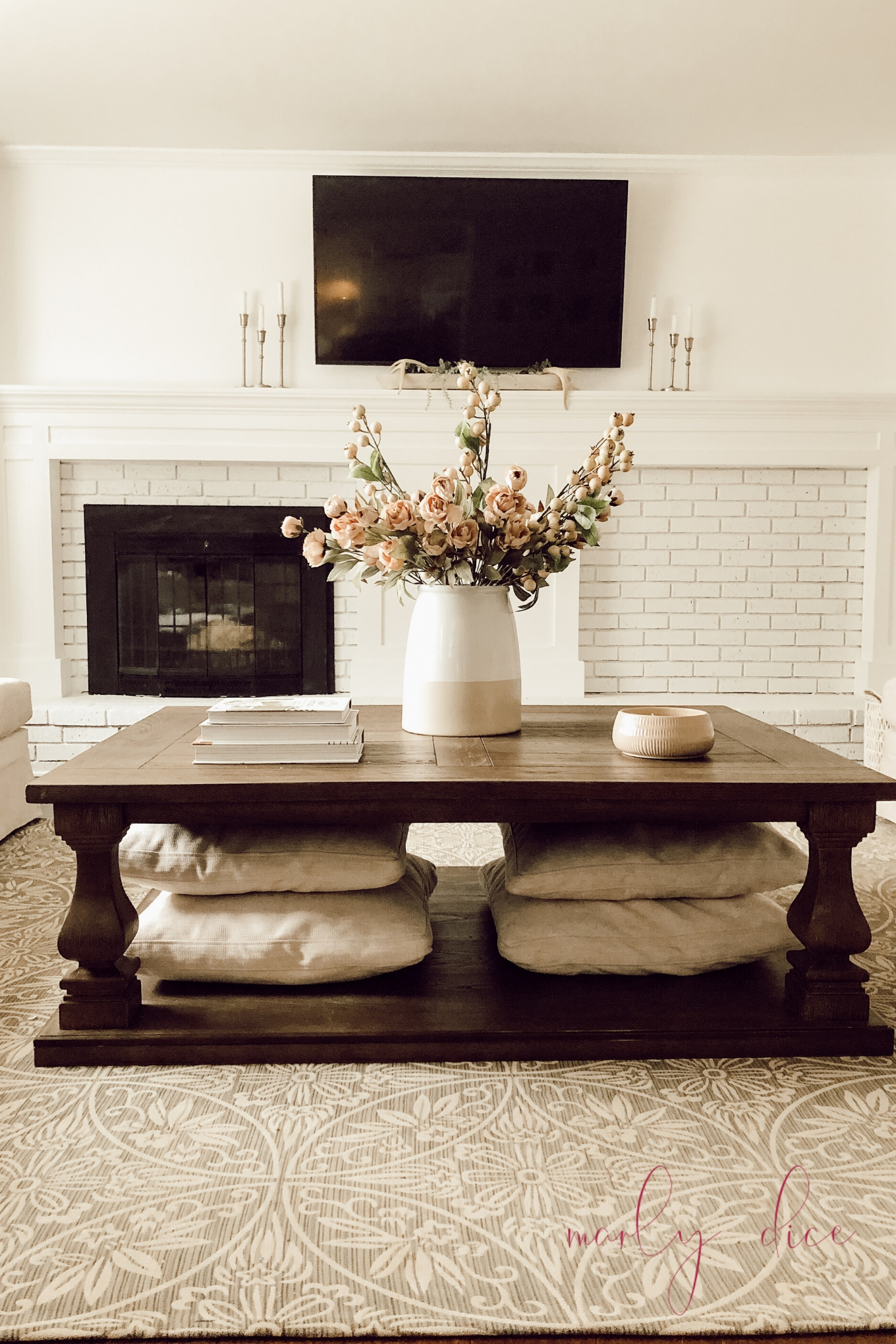 Diy Fireplace Makeover Tutorial Before And After Off Center Fireplace Marly Dice